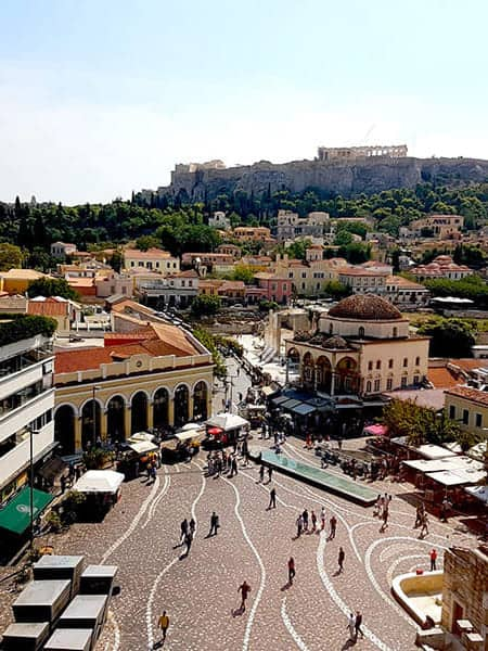 Athens city view mobile