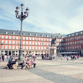 Madrid square view